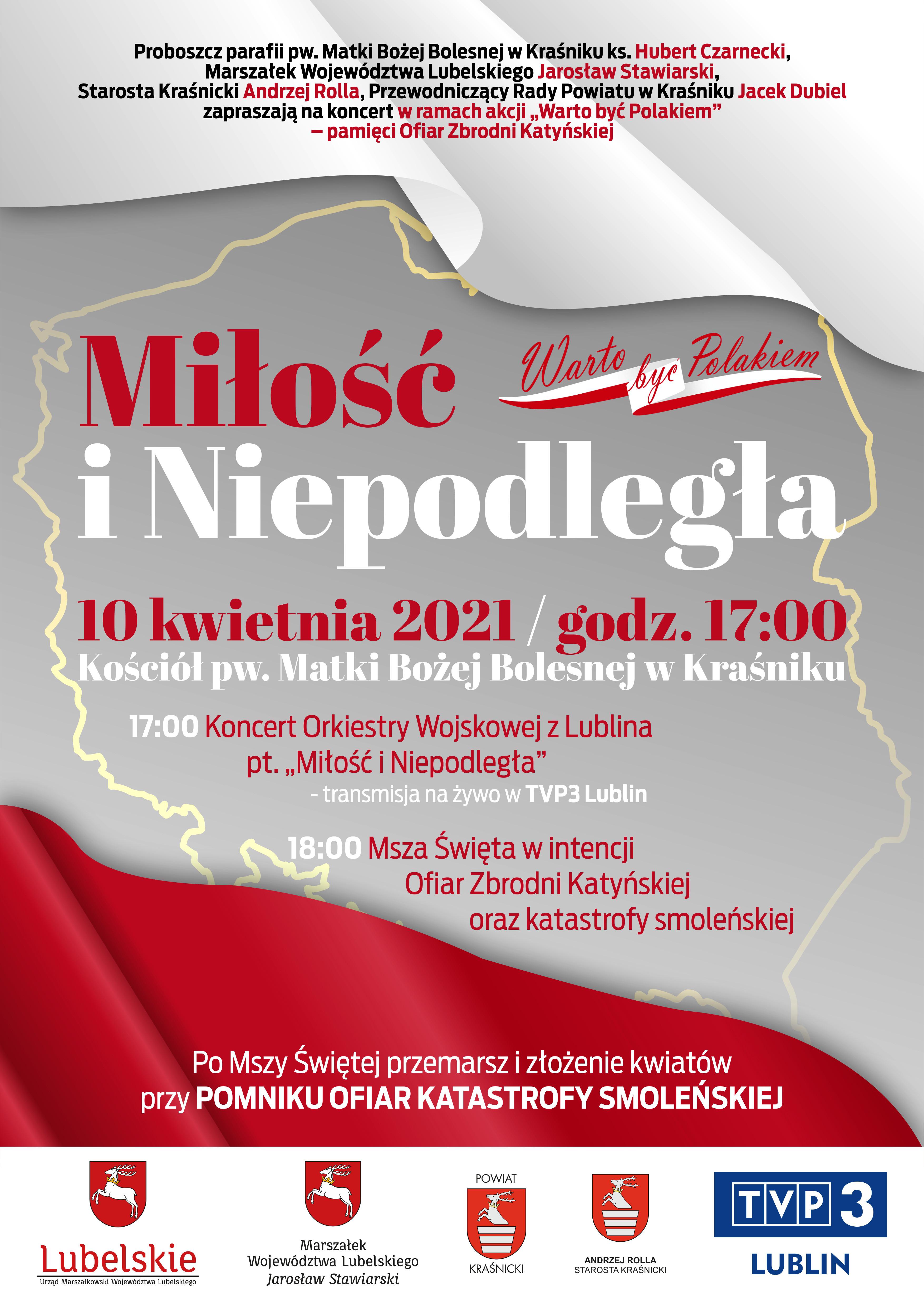 """Koncercie Orkiestry Wojskowej z Lublina pt. """"Miłość i Niepodległa"""""""