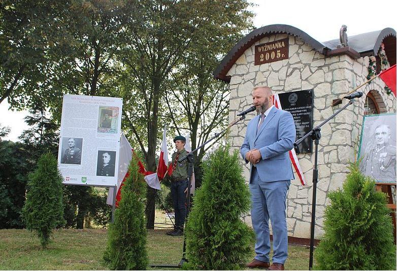 Tablica majora R. Kamińskiego w Wyżniance - zdjęcie