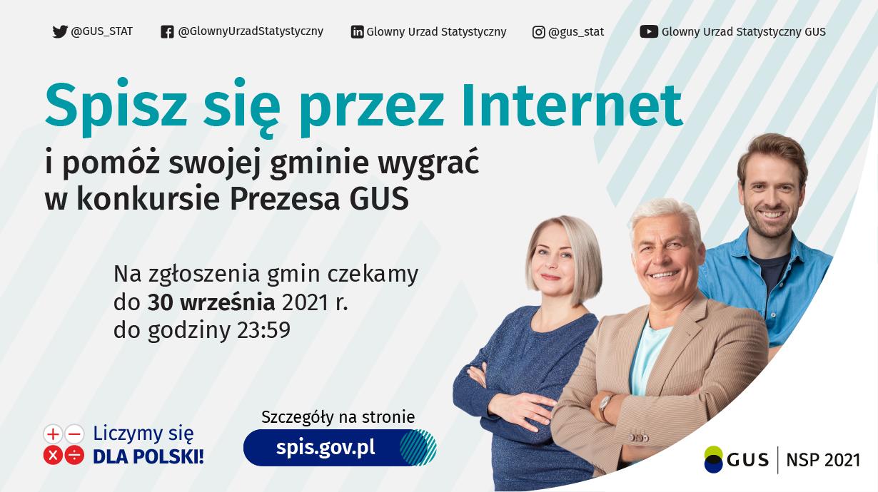 Konkurs Prezesa GUS na najbardziej cyfrową gminę Narodowego Spisu Powszechnego Ludności i Mieszkań 2021