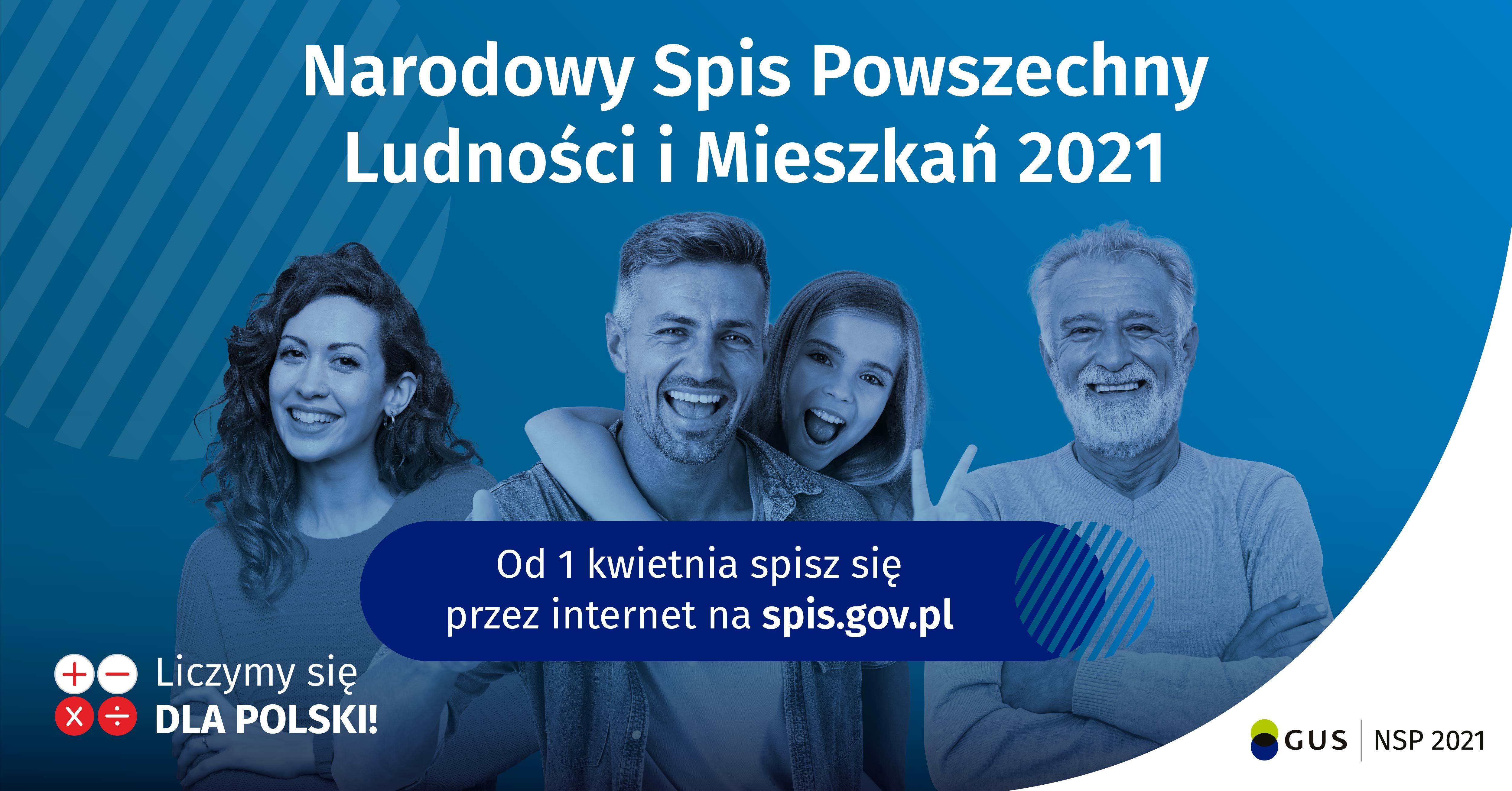 Spisz się przez Internet - Narodowy Spis Powszechny Ludności i Mieszkań 2021