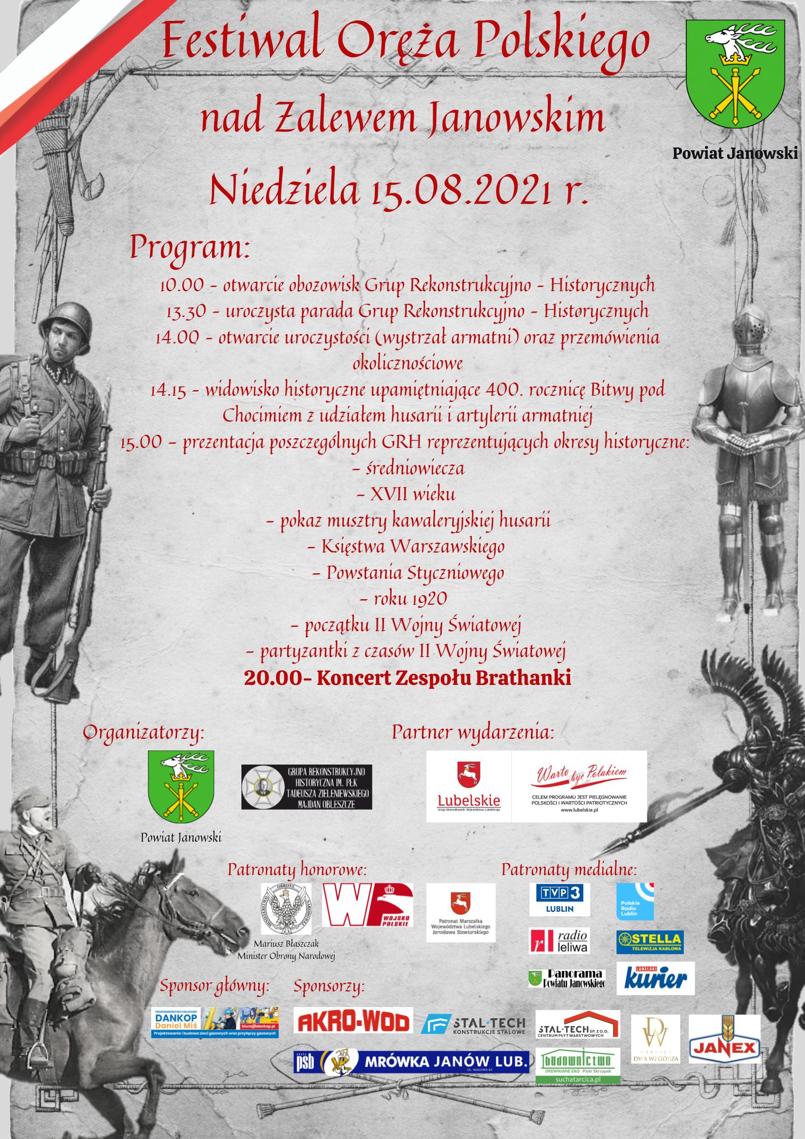 Festiwal Oręża Polskiego - 15.08.2021