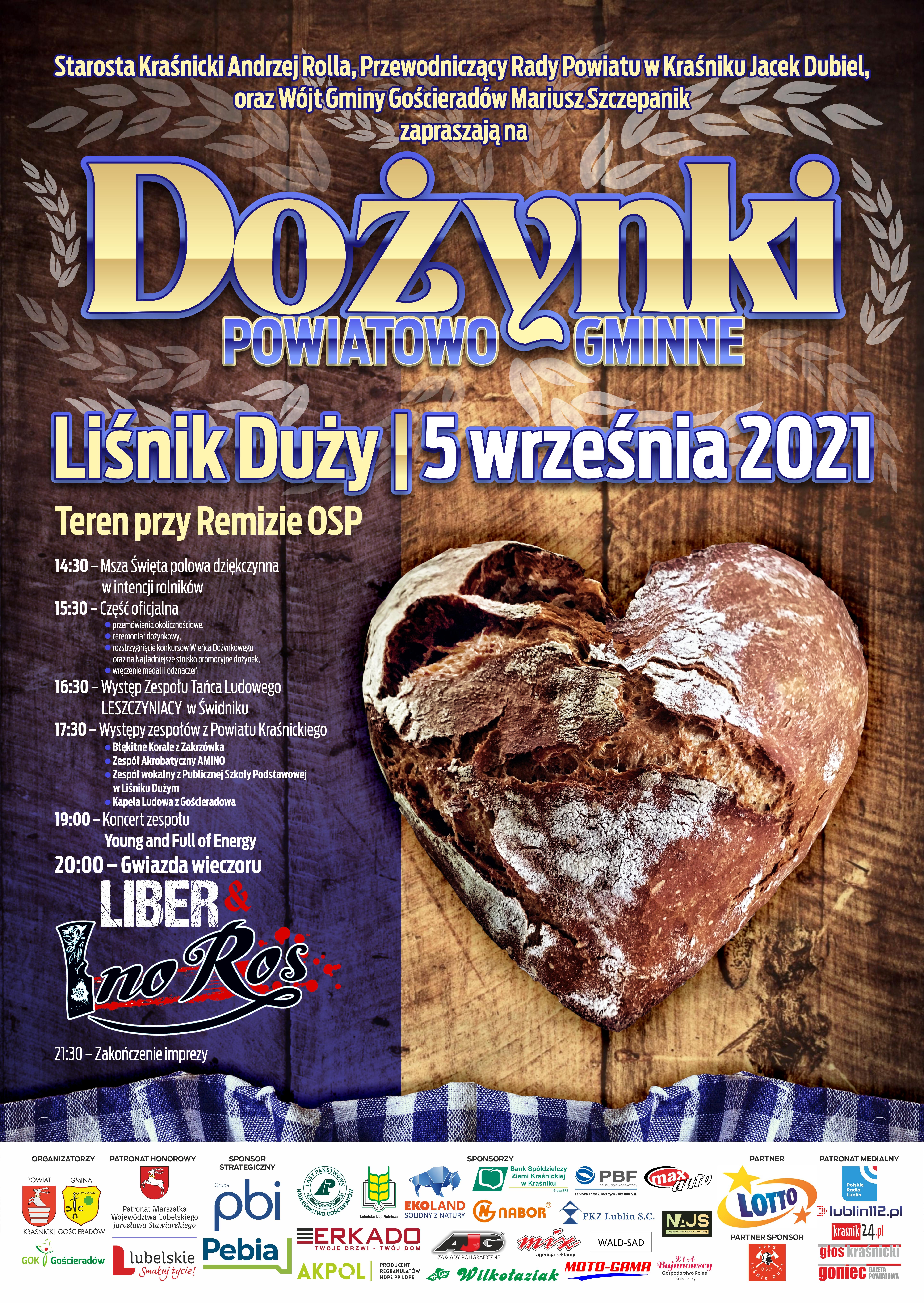 Dożynki powiatowo-gminne w Liśniku Dużym 05.09.2021r.