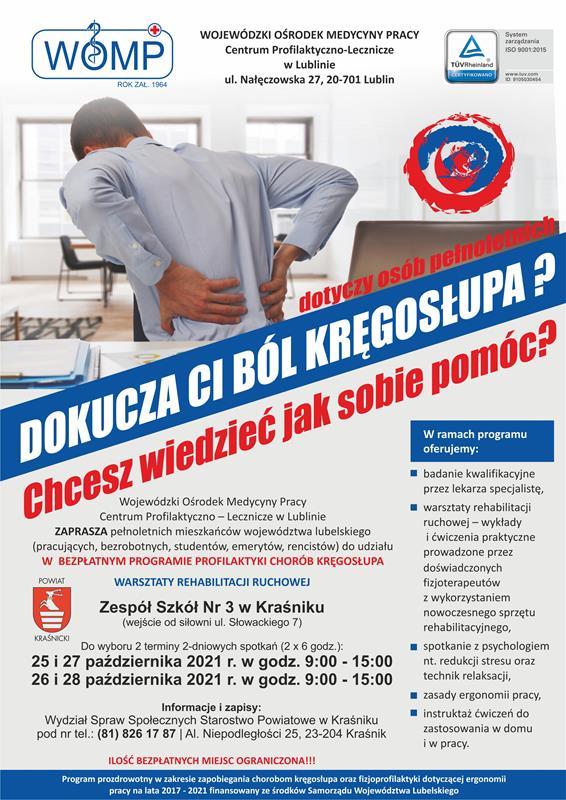 Bezpłatny Program Profilaktyki Chorób Kręgosłupa!
