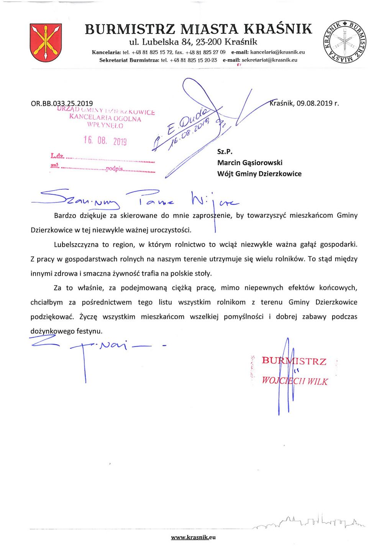 Burmistrz Miasta Kraśnik wojciech Wilk