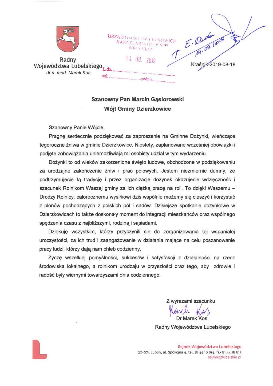 Radny Województwa Lubelskiego Marek Kos